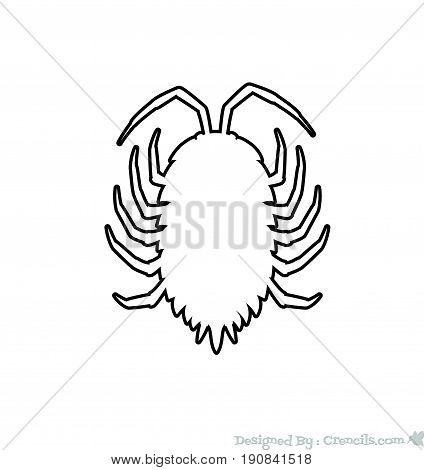 Drawing Art of Lice Insect - Vector Stock Illustration