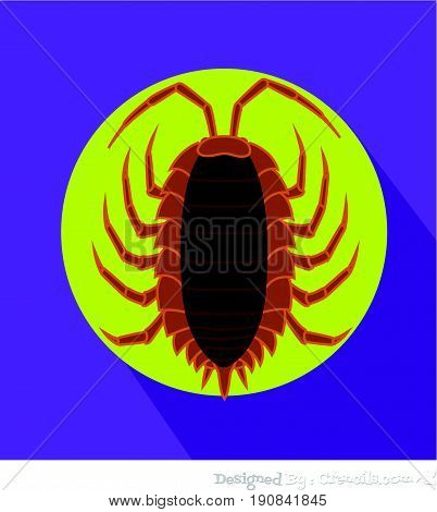 Creepy Lice Insect - Vector Stock Illustration