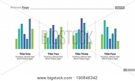 Bar chart slide template. Business data. Graph, diagram, design. Creative concept for infographic, project. Can be used for topics like analysis, marketing, research