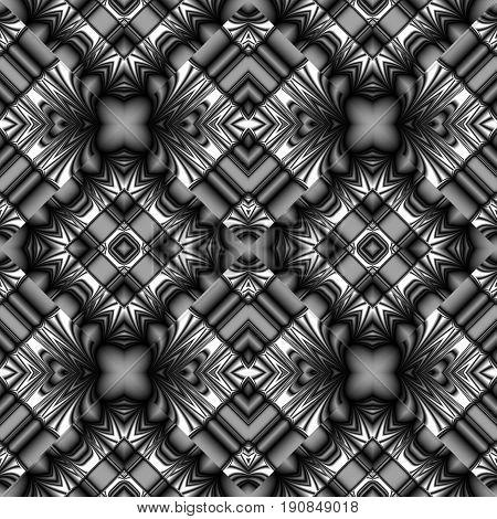 Black And White Seamless Metal Pattern