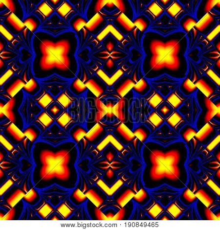 Elegant Seamless Pattern Of Stained Glass Or Chrome