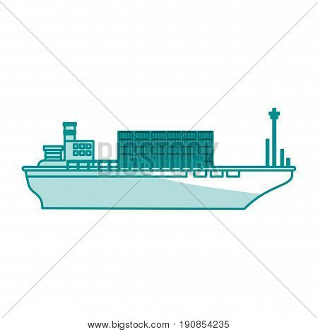 boat transport commodity illustration flat vector icon design graphic shadow