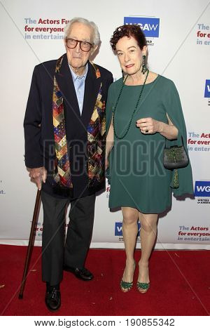 LOS ANGELES - JUN 11:  James Karen, Alba Francesca at the Actors Fund's 21st Annual Tony Awards Viewing Party at the Skirball Cultural Center on June 11, 2017 in Los Angeles, CA