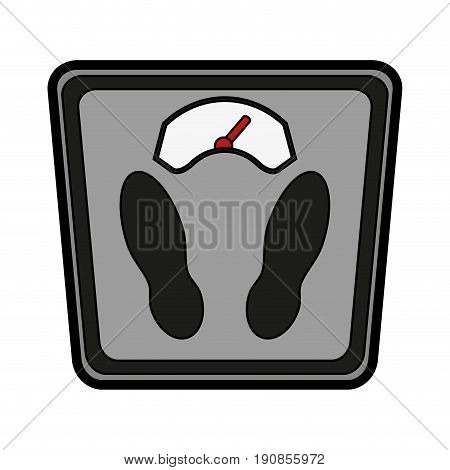 Weighing scale sport icon vector illustration design graphic
