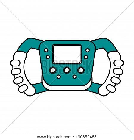 steering wheel racer flat illustration design graphic icon vector