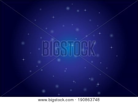 abstract blue lights with geometric shap on black background