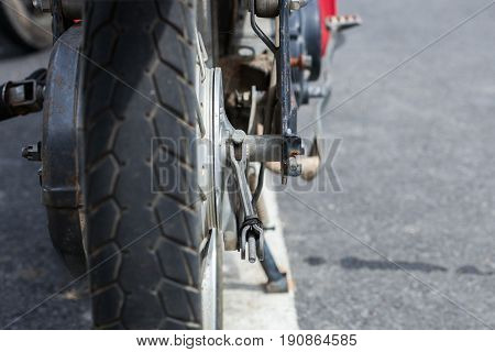 Old Motorcycle Rubber Tires
