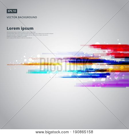 Abstract geometric colorful lines vector background Technology with lighting effect. Good for promotion materials brochure banner Backdrop. Technology .