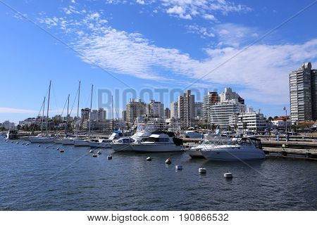 In the Harbor of Punta del Este, Uruguay - April 2017