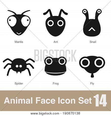 Animal Face Flat Icon,  Vector