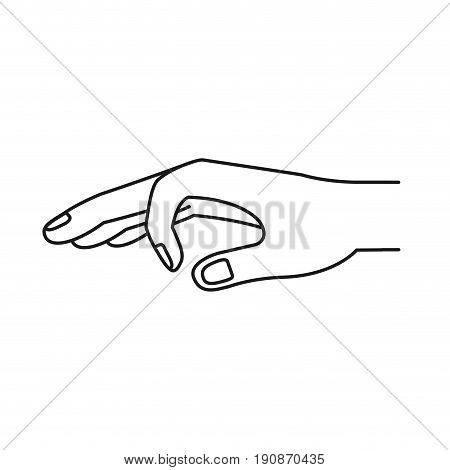 silhouette hand of symbol of deposit in someone vector illustration
