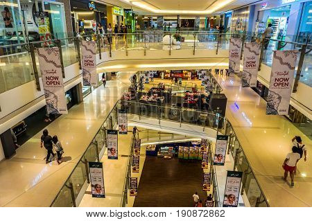 Kota Kinabalu,Sabah-May 29,2017:View of Imago the shopping centre KK Times Square is one of Kota Kinabalu largest shopping centres at Kota Kinabalu,Sabah,Borneo,Malaysia.