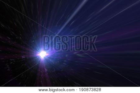 Modern abstract beautiful galaxy and rays light streak background