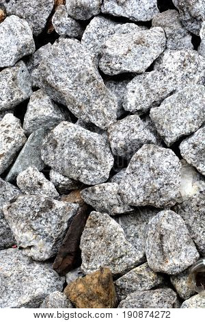 Stones on ground texture background and abstract rock
