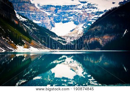 Grassi Lake with the Rocky Mountain at Banff