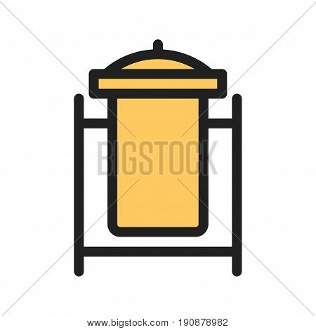 Recycle bin, waste bin, dustbin icon vector image. Can also be used for town. Suitable for web apps, mobile apps and print media.