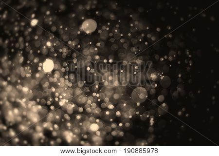 Bokeh abstract light vintage color blurred on black background