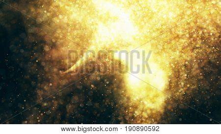 Sparkling Flow Abstract Background