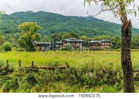Traditional Bhutanese Architectures In A Village Near Bumthang, Bhutan