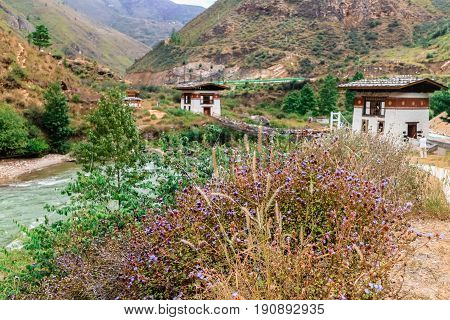 Tamchog Lhakhang Paro River Bhutan
