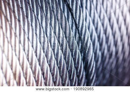 Clean New Steel Cable Steel Wire Or Steel Rope, Rope Sling Drum.
