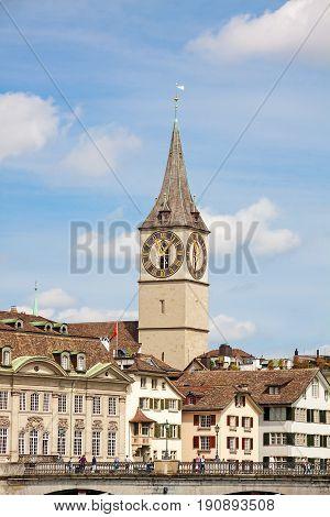 St. Peter (landmark) Of Zurich, Downtown