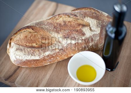 Crusty Bread With Olive Oil And Balsamic Vinegar