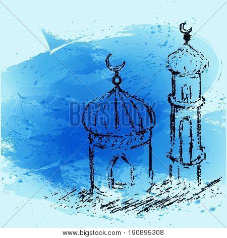 Eid Mubarak And Aid Said Greeting Moubarak And Mabrok For Muslim Community Festival Card Design Eps