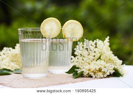 Two Glasses Of Elderflower Lemonade