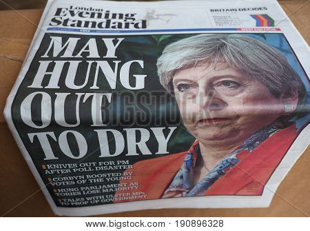 Newspapers Showing Theresa May
