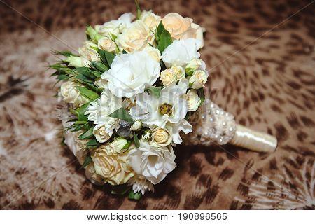 Wedding bouquet. Bride's flowers, Festive bouquet of the bride