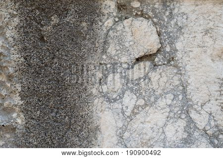 Abstract texture of an old stone wall