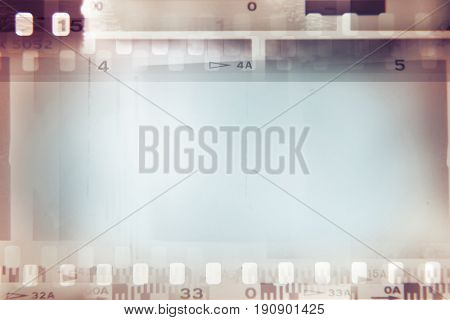Film negative frames background, copy space
