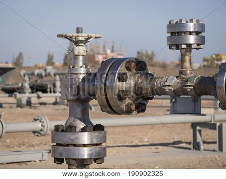 Choke Valve at Gas Well Head in Egypt