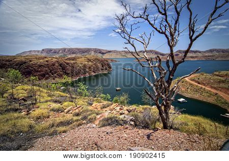 Large Freshwater Lake at the Outback - Western Australia