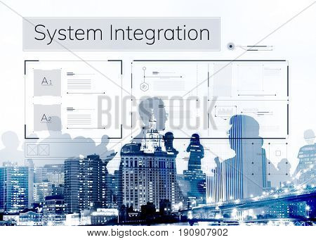 Computer System Data Center Content Template Graphic