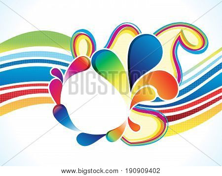 abstract artistic floral wave explode vector illustration