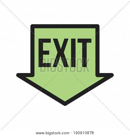 Fire, run, exit icon vector image. Can also be used for firefighting. Suitable for use on web apps, mobile apps and print media.