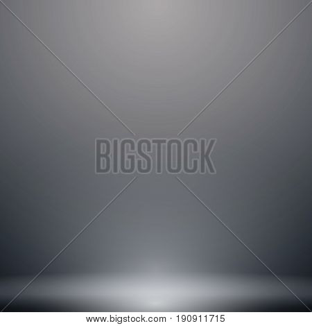 Abstract luxury dark grey and black gradient with lighting background Studio backdrop well use as black backdrop Vector Illustration.