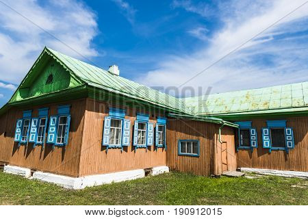The old wooden house of one of the Russian villages.
