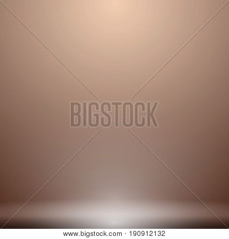 Abstract luxury brown gradient with lighting background Studio backdrop well use as black backdrop Vector Illustration.