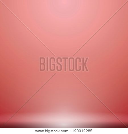 Abstract luxury red gradient with lighting background Studio backdrop well use as black backdrop Vector Illustration.