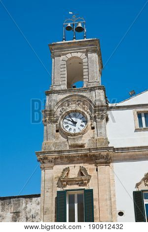 Clocktower of Martina Franca. Puglia. Southern Italy.