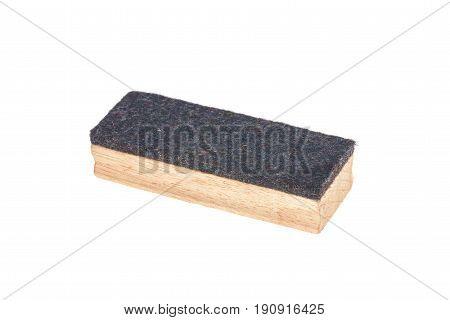 Brush erase wooden isolated on white background