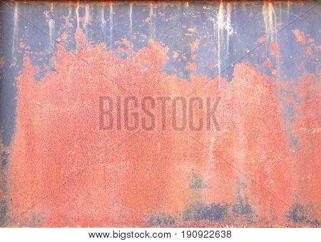 an old colourful zinc wall rusty metal