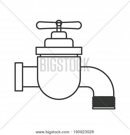 monochrome silhouette of faucet icon vector illustration