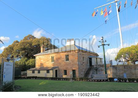 SYDNEY AUSTRALIA - MAY 31, 2017: Sydney Observatory historical architecture in Sydney.