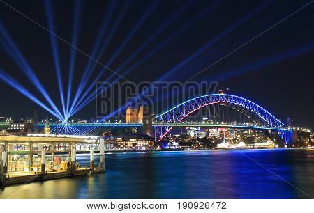Harbour bridge Sydney harbour cityscape Sydney Australia