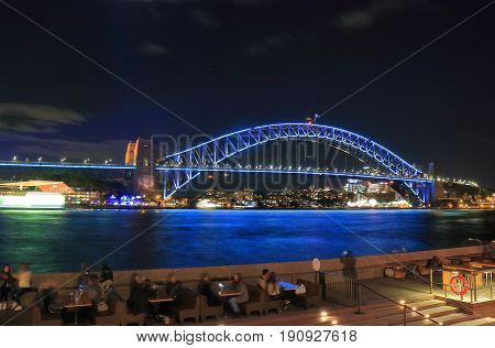 Harbour bridge Sydney harbour cityscape Sydney Australia