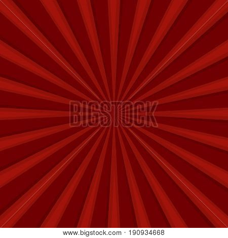 Red Comics Radial Speed Lines graphic effects. Vector illustration